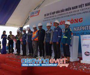 Lễ khởi công lắp đặt  bồn chứa Naphtha – Dự Án Tổ Hợp Hóa Dầu Miền Nam Việt Nam
